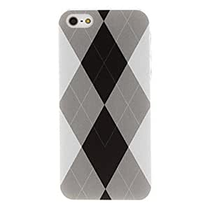 Diamond Pattern Transparent Frame PC Hard Case for iPhone 5/5S