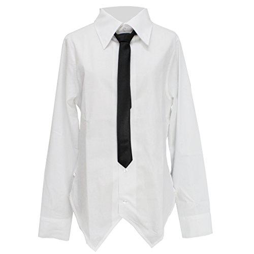 フォアマン避ける環境保護主義者【Deorart ディオラート】DRT2240 ネクタイ付き 燕尾シャツ(ホワイト,M)