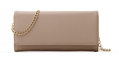 Womens Saffiano Leather Bifold Clutch product image