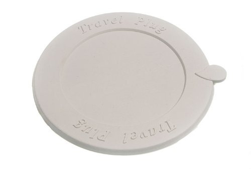Pack Of 2 Flat Universal Self Seating Rubber Sink Bath Basin Travel Plug 125Mm by DIRECT HARDWARE