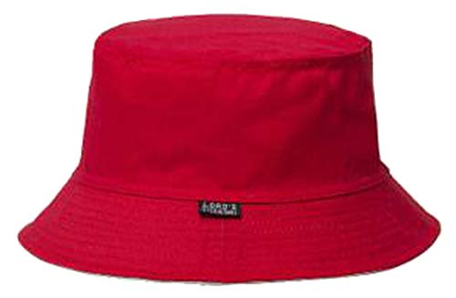 2019 Plain Solid Bucket Hats Men Reversible Two Sides can wear 100% Cotton Sun Cap Comfortable Fisherman hat Red