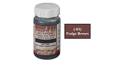 (Tandy Leather Eco-Flo All-in-One Stain & Finish 4.4 fl. oz. (132 ml) Fudge Brown 2605-02)