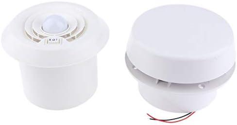 D DOLITY 200CFM RV LEDエアベント 天井アウト レット インレット 換気扇 排気ブロワー