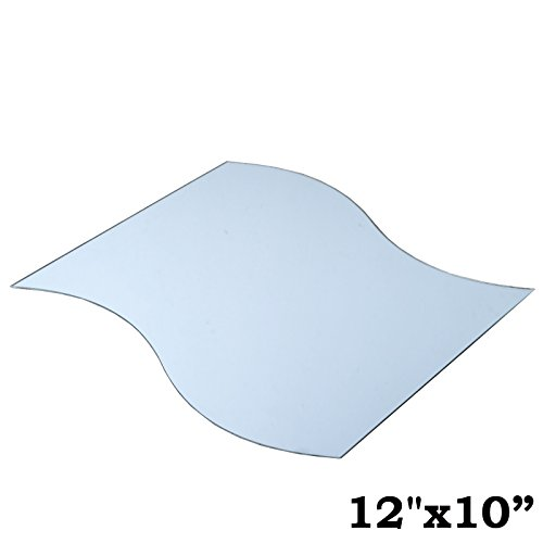 BalsaCircle 4 pcs 12-Inch x 10-Inch Wave Glass