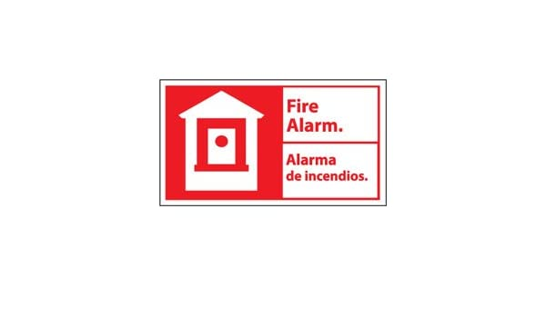 Amazon.com: 10 X 18 FIRE ALARM/ALARMA DE INCENDIOS ...