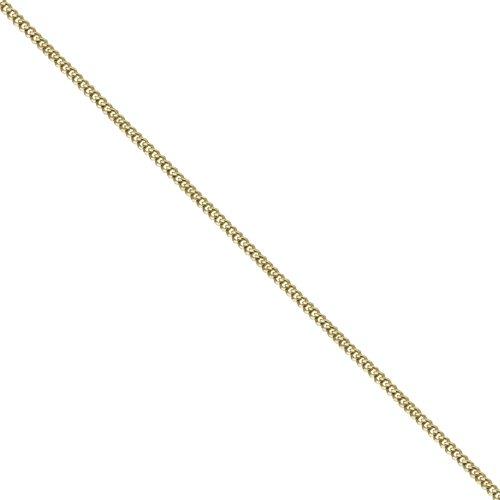 Pendentif ovale St Christophe de 17x11mm en or 18ct avec chaîne Courbe