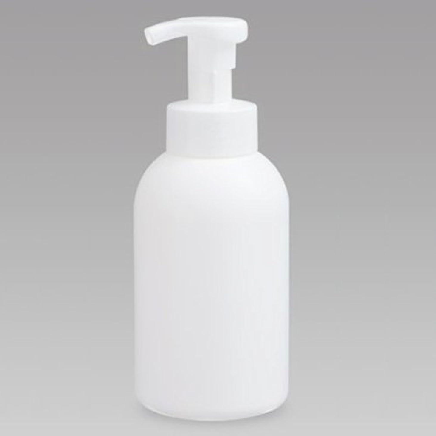 ビートデコードするブラインド泡ボトル 泡ポンプボトル 500mL(PE) ホワイト 詰め替え 詰替 泡ハンドソープ 全身石鹸 ボディソープ 洗顔フォーム