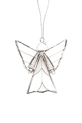 (Fair Trade Capiz Shell Holiday Ornaments - Angel, Heart or Star (Angel))
