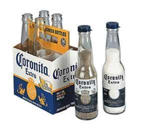 2 Corona Salt and Pepper Caps, Make Your Own Coronita Shakers