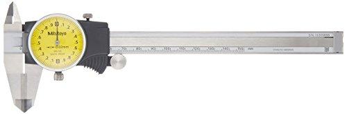 Mitutoyo 505-735 D15TXWW Dial Caliper, ID, OD Carbide, 0 mm-150 mm, 0.02 mm - Mitutoyo Wood Caliper