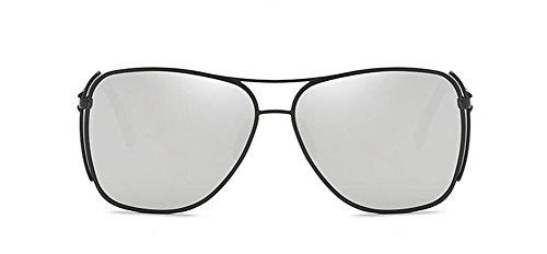 inspirées cercle métallique soleil lunettes en polarisées Blanc retro rond Mercure Lennon du vintage de style wv55WScPtq