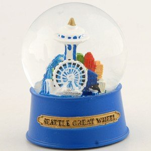 NS Seattle Snow Globe Great Wheel 60mm With Exclusive Copyrighted Seattle - Magnet Space Wheel