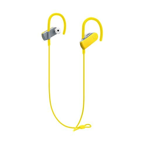 Audio-Technica ATH-SPORT50BTBK SonicSport Bluetooth Wireless In-Ear Headphones, Yellow