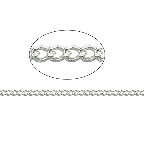 16Ft Silver Plated Curb Silver Plated Copper Chain 5 Meters ODSF-11110