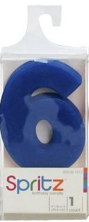 Spritz Molded # 6 Birthday Candle Blue (1 Count) (Abc 13 Days Of Halloween)