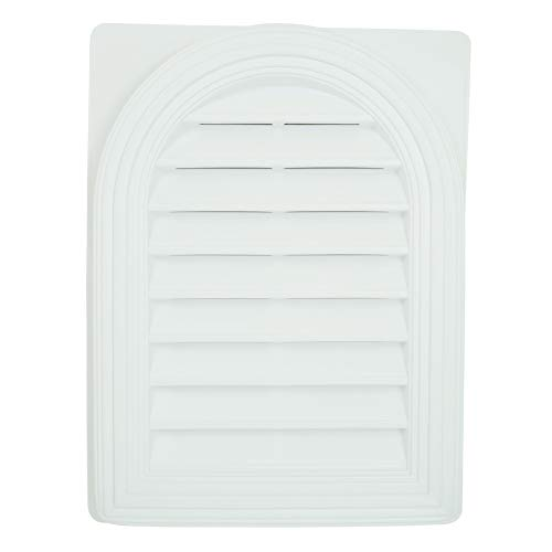 und Top Functional Gable Vent with Screen - White - One Piece Construction ()