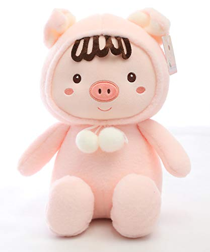- AIXINI Bed Time Stuffed Animal Toys, Cute Soft Plush Pig with Hat - Pink 19.6ich
