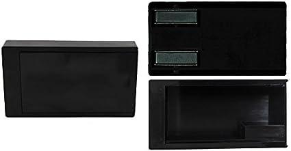 GEO-VERSAND Unisex Adult Geocaching Tin Box Magnetic Key Hide Geocache Hideout Black 10cm x 5.4cm