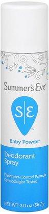 SUMMER'S EVE Feminine Deodorant Spray-Baby Powder-2 oz, 2 ct (Quantity of 4)