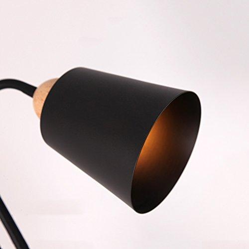 Lampadaire Vbimlxft Style Réglable En Rétro E27 Creative Fer Bois Nnym8wOvP0