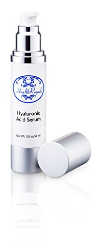 Hyaluronic Acid Serum By HealthRoyals ,Vibrant Firm Elastic Skin Again-Eye Bags, Wrinkles, Dark Circles, Dry Skin, Age Spots-All Reduced-Proven Scientifically Designed Anti-Aging, Anti-Wrinkle Complex That Is Packed With Vitamins A, C, D, And E-Superb Rich Moisturizer Results In Timeless, Pure Glowing Skin! Look Younger Or Purchase Cheerfully Refunded, Made In America