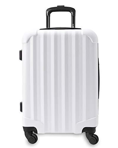 Genius Pack Hardside Luggage Spinner - Smart, Organized, Lightweight Suitcase (Aerial - Matte White) (Antler Liquis Luggage Best Price)