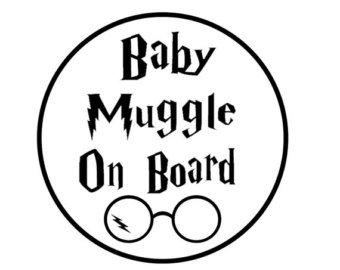 Amazon Com Ni585 Baby Muggle On Board Harry Potter