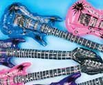 Large Inflatable Guitars- 42In. Favorite Blow Up Plastic Guitars Toys. Inflate And Rock! Colors May Vary.(12/Pkg) - Inflatable Guitars - 42 inch (Pkg Rock)