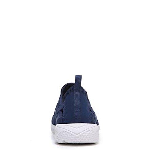 Ryka Womens Helena Slip On Sneaker (10 W, Blu / Bianco / Argento)