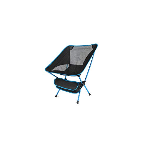 Portable Chair Camping Folding Fishing Chair Seat 600D Oxford Cloth Aluminium Fishing Chair,SkyBlue