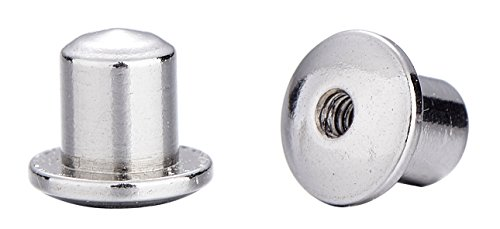 Two Screwback Replacement Backs for Screw Back Earrings, Stainless Steel (Silver Toned)