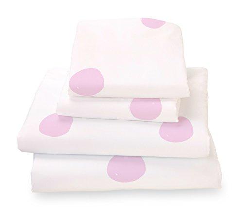 Twin Sheet Set Pink Polka Dots - Double Brushed Ultra Microfiber Luxury Bedding Set