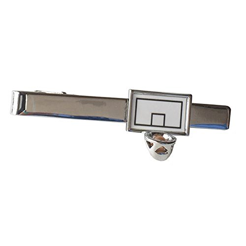 Nba Tie Basketball (Basketball Hoop Ball Sports Nba Court Tie Clip Black Wedding Bar Clasp)