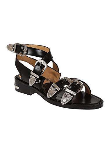 Toga Black Leather Aj885black Women's Sandals Pulla Sr8Sqv7aW