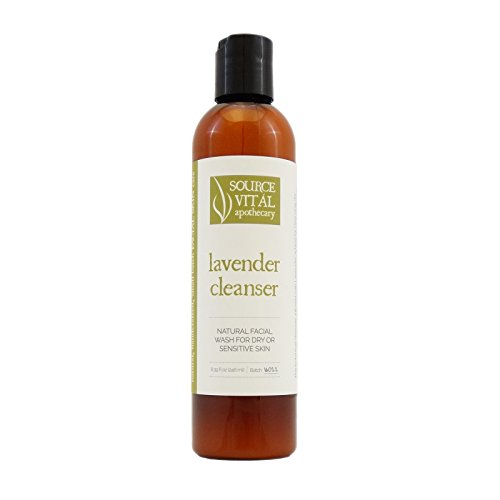 Source Vit l Apothecary Lavender Cleanser Natural Face Wash for Dry and Sensitive Skin 8.39 fl. oz.