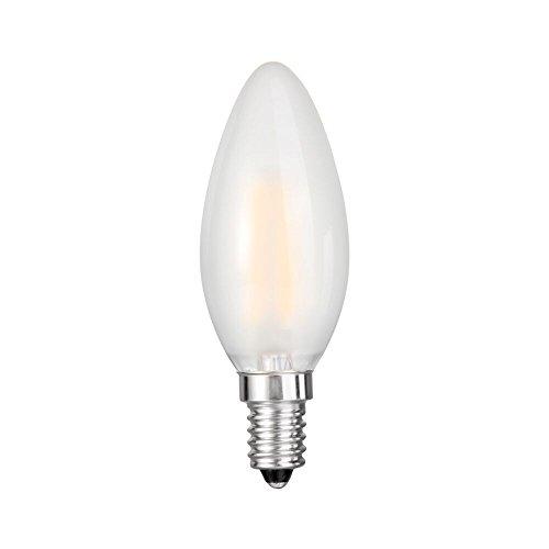 Goodlite, G-83428 Frosted Filament Decorative Torpedo LED Dimmable Light Bulb, 5 Watt Candelabra - 60 Watt Equivelant E12 Base Warm White 2700K 650 Lumens Ul Listed dimmable (Frosted Medium Torpedo Base B11)