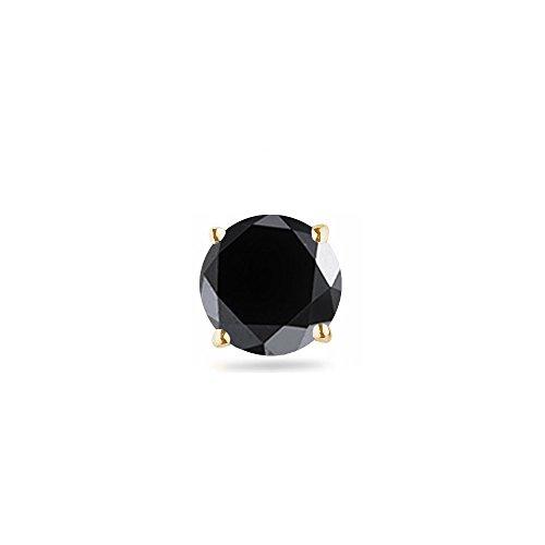 1/4 (0.21-0.27) Cts of 3.00-3.50 mm AAA Round Black Diamond Men