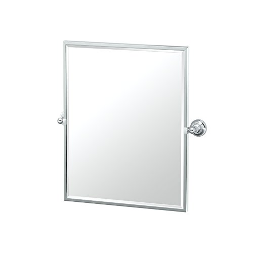 Gatco 4329FSM Tiara Chrome Framed Small Rectangle Mirror, 25