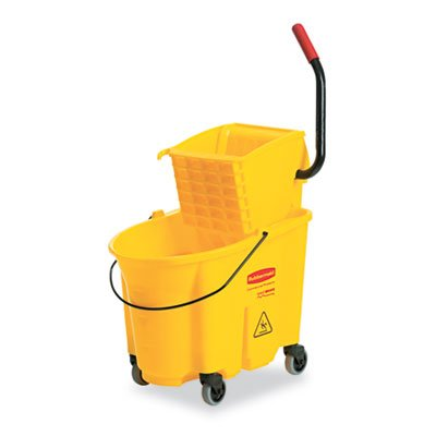 Wavebrake 26 Quart Side Press Mop Bucket & Wringer Combo, Yellow
