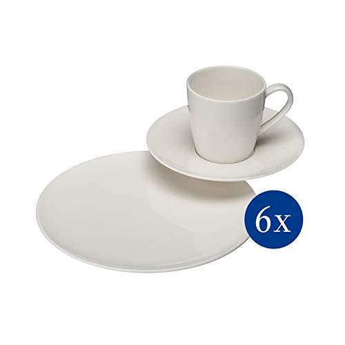 Stark reduziert: vivo by Villeroy & Boch Group Voice Basic Kaffeeservice für bis zu 6 Personen, 18-teilig, Premium Porzellan und mehr