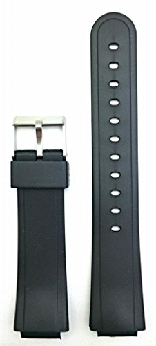 15mm Black Rubber Watch Band -- Comfortable and Durable PVC Material