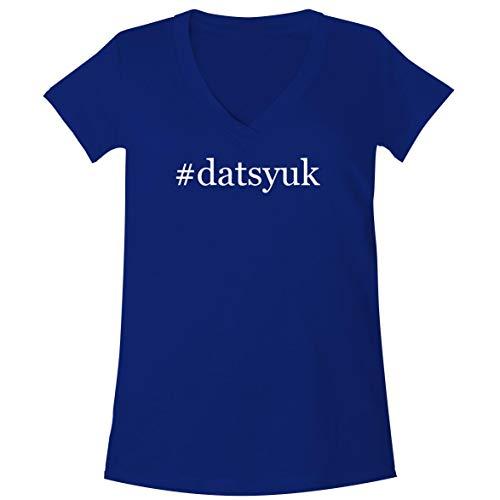 - The Town Butler #Datsyuk - A Soft & Comfortable Women's V-Neck T-Shirt, Blue, XX-Large
