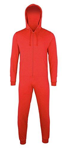 Comfy Co Combinaison tout en un Rouge L/XL