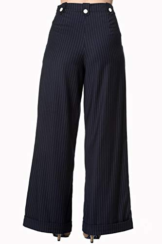 Days Revenge Bleu Années Jambes Dancing Style Rayures Larges À 40 Swing Sweet Pantalon FnHq77wd