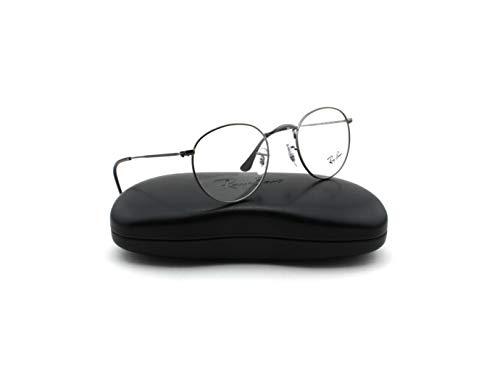 Ray-Ban RX3447V Round Metal Unisex Eyeglasses Matte Gunmetal 2620, -