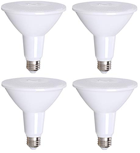 4 Pack Bioluz LED PAR38 LED Bulb 100-120 Watt Replacement Bulb (Uses 13 Watts) 3000K Dimmable Indoor/Outdoor UL ()