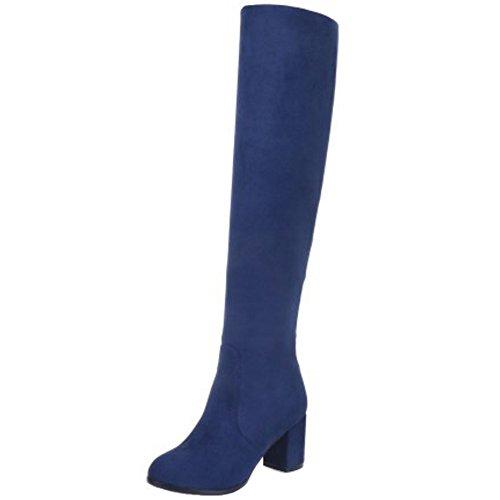 Bottes Taoffen A Femmes Simple Enfiler Blue TUUqOn