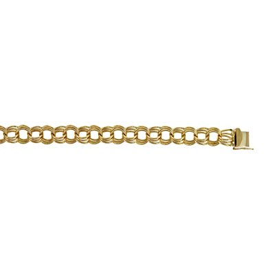 Or jaune 14 carats 12 mm-Bracelet lien-JewelryWeb 8 ""