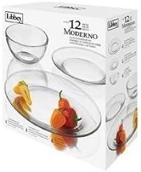 12 Piece Libbey Moderno Glass Dinnerware Set  sc 1 st  Amazon.com & Amazon.com: Clear - Dinnerware Sets / Dining u0026 Entertaining: Home ...