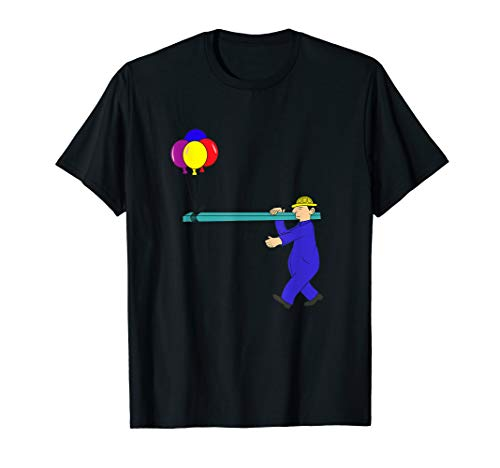 Construction Worker Funny Engineer Shirt Ballon Boiler -